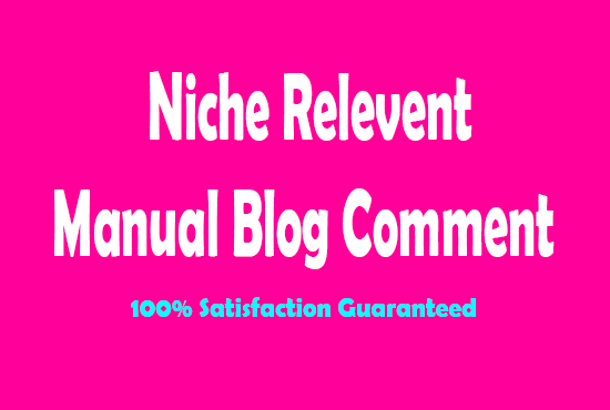 I will create 50 niche relevanted blog comments