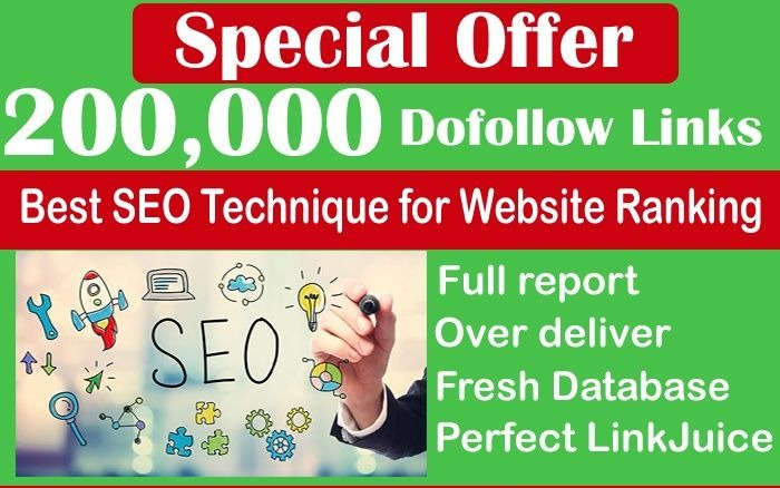 Create 200k Gsa Dofollow high Quality backlinks for Google First page