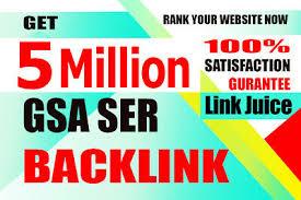 I will build 5 million gsa backlinks for faster ranking on google 2021
