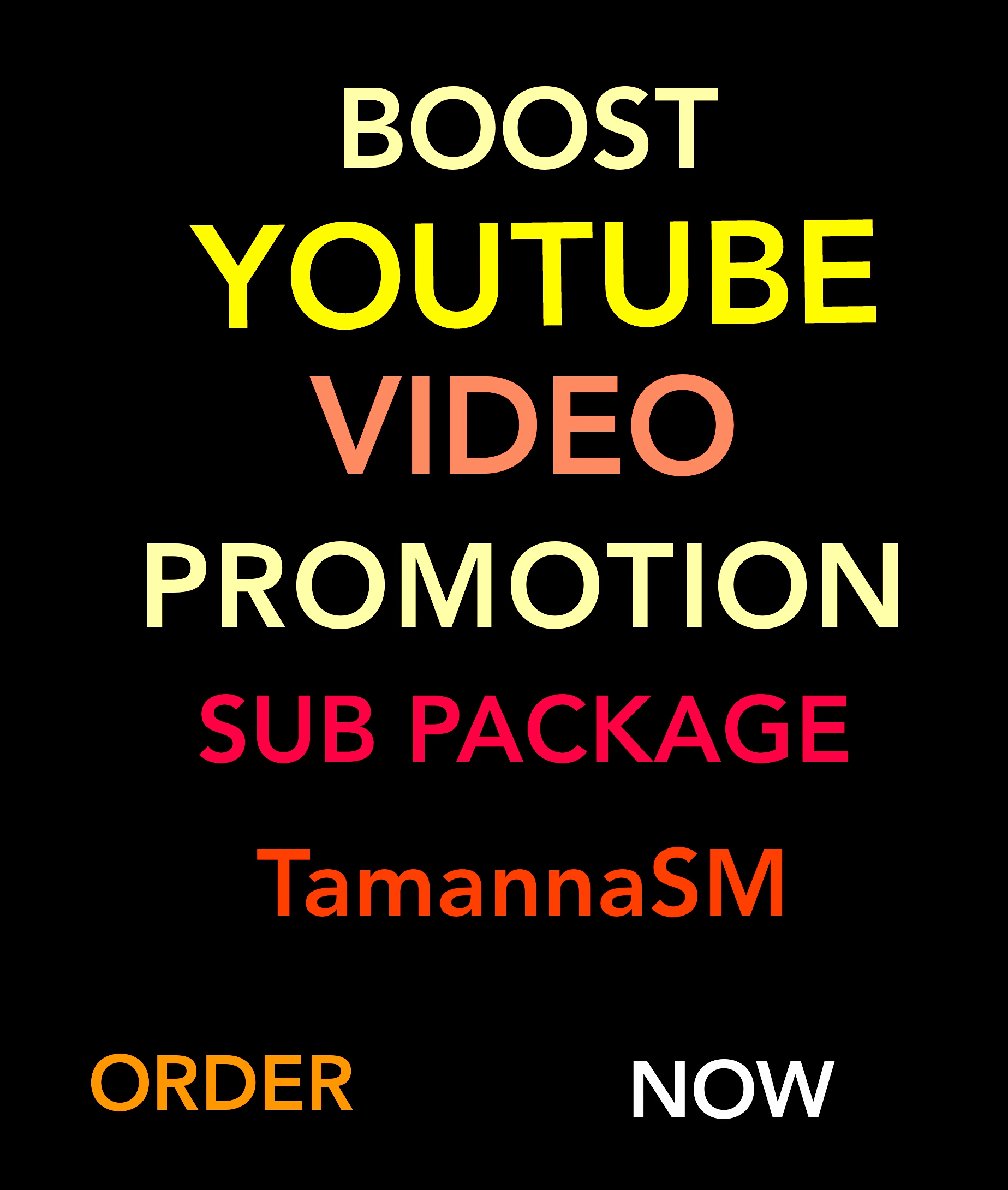 SUB PACKAGE HIGH QUALITY YOUBE VIDEO PROMOTION AND SICIAL MEDIA MARKETING