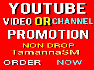 high quality YT video or CHN Promotion and social media marketing