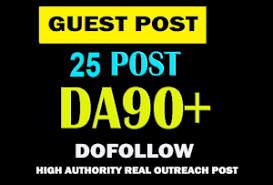 25 unique and high quality Posts on DA 40 to 80 plus With Do-follow Backlinks