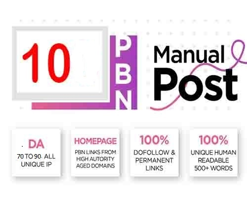 Build 10 High upto DA 90 permanent posts Dofollow PBN Backlinks