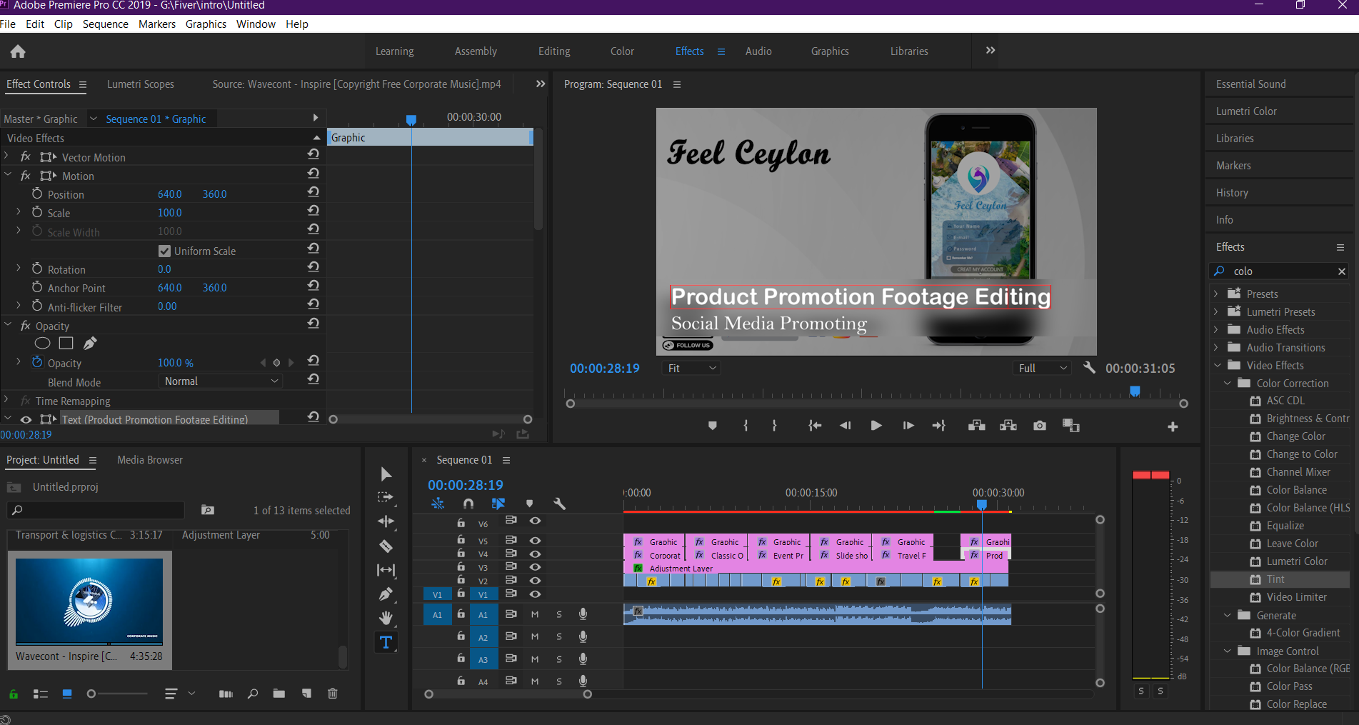 I will do your video editing and post production