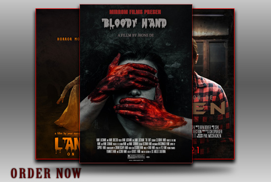 I will design professional movie poster within 12 hours