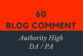 I will do 60 blogcomment with high backlinks