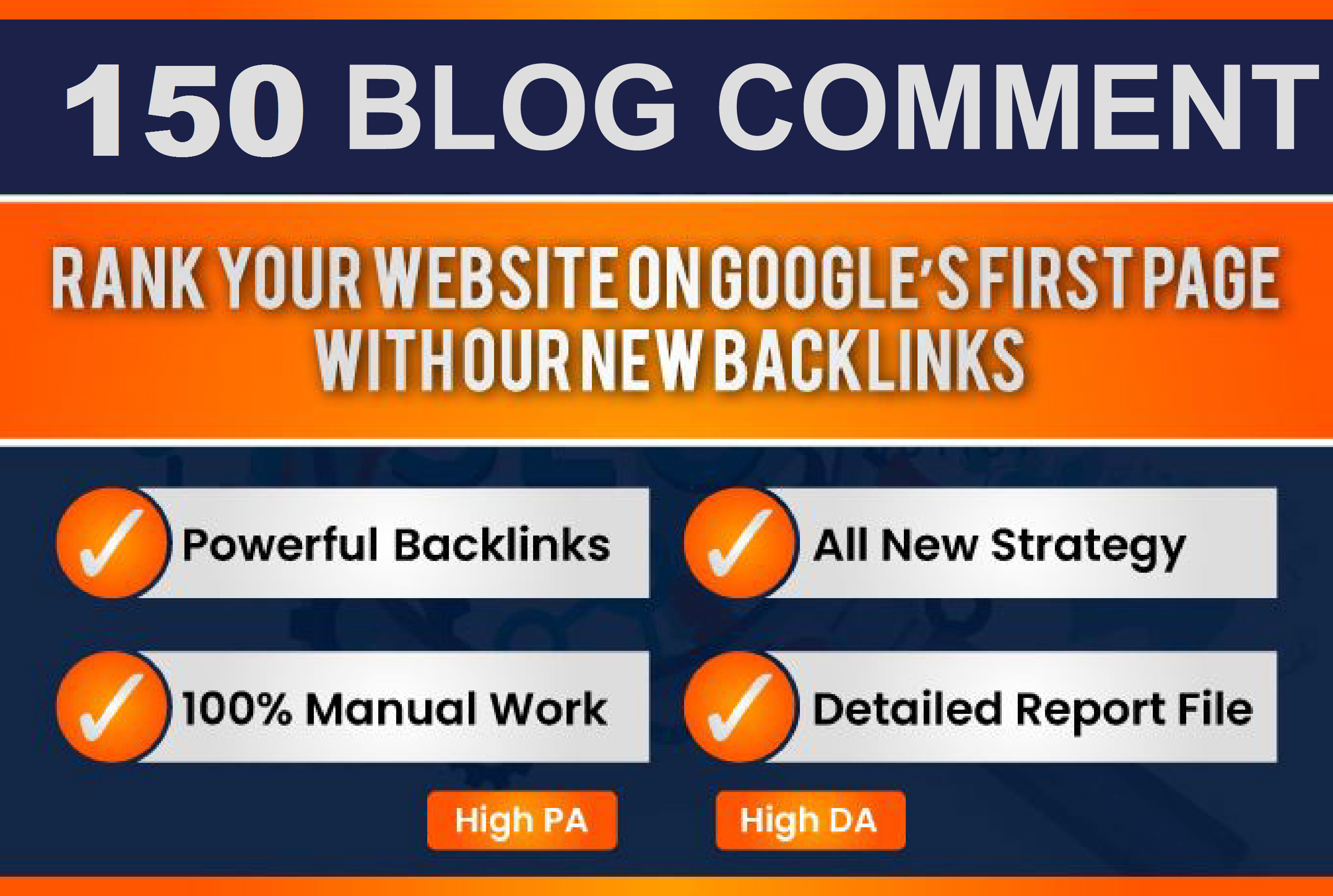 I will do 150 blogcomment with high backlinks