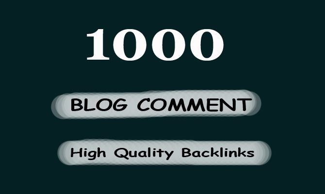 I will do 1000 blogcomment with high backlinks