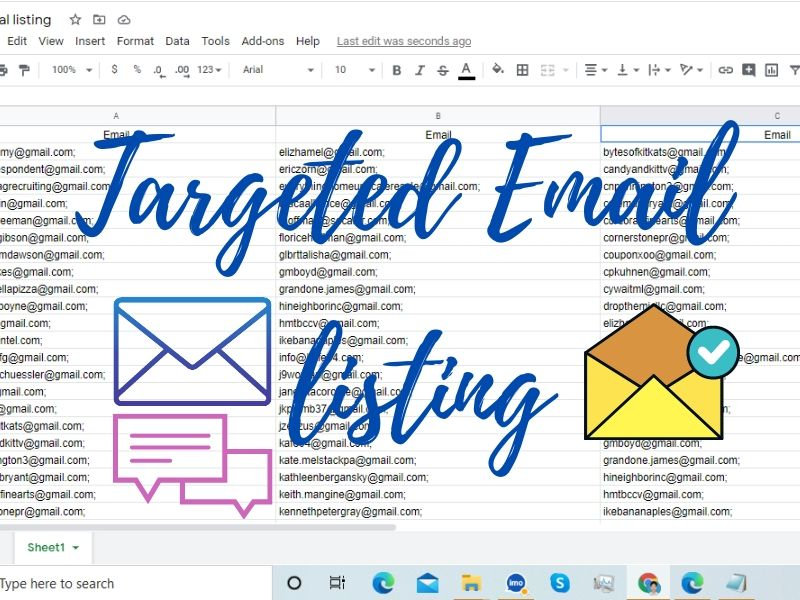 I will do 5k plus high-quality any type Targeted Email list