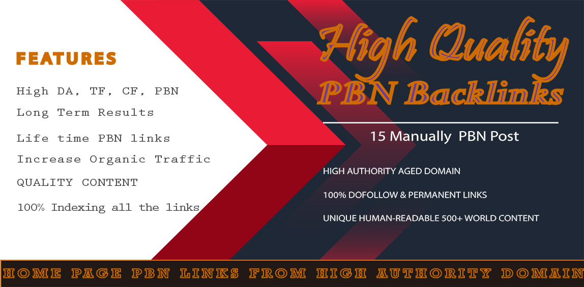 Build 15 High Quality PBN Permanent Backlinks And Boost Up Your Rank Up