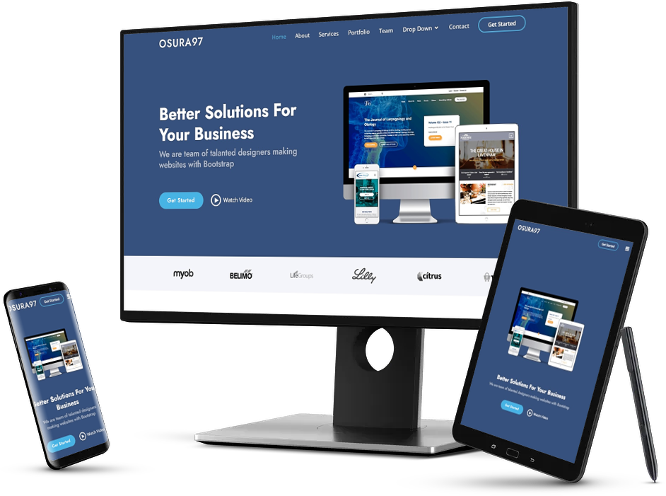 I will design modern responsive website with html, css, bootstrap and javascript
