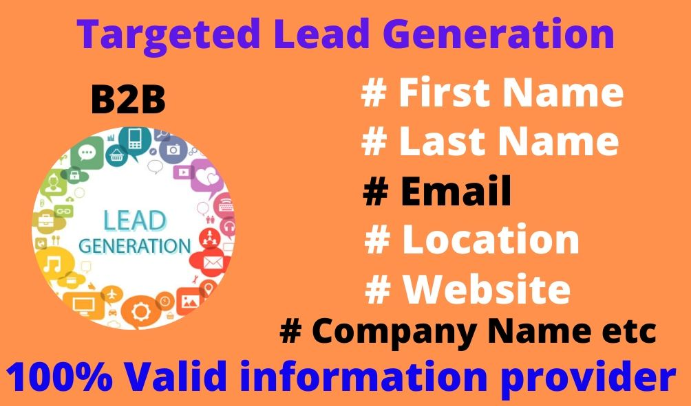 I will do 100 targeted verified b2b lead generation
