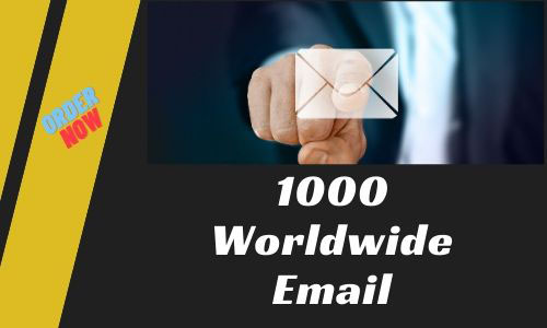 I will provide you 1000 worldwide Email