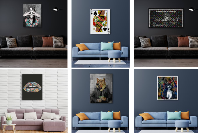 I will create amazing designs for canvas wall art
