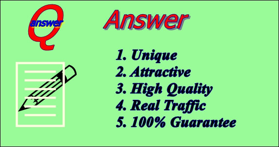 Provide 5 attractive high quality quora answer for your targeted traffic