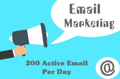 Providing 200 Active Email Per Day
