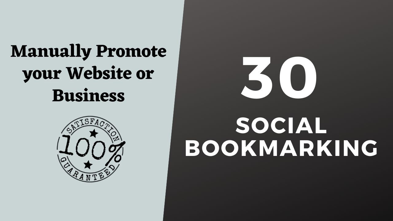 Instant 30 manual Social Bookmarking from top social sites