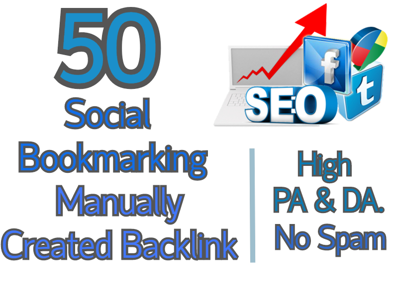 I will manually provide 50 high quality social bookmarks