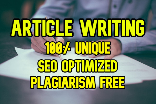 Unique Article Writing Content,  2000 words