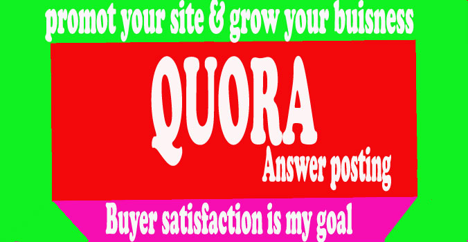 I can create 15 contectual HQ Quora Answer with Backlinks