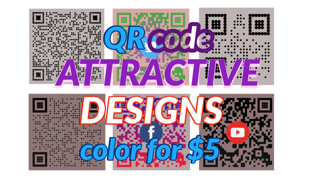 Stunning and Colorful QR codes for you