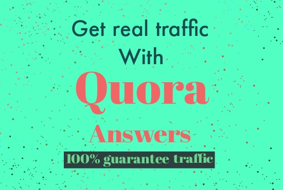 I Will Promote Your Website/Business With High Quality Quora Answer