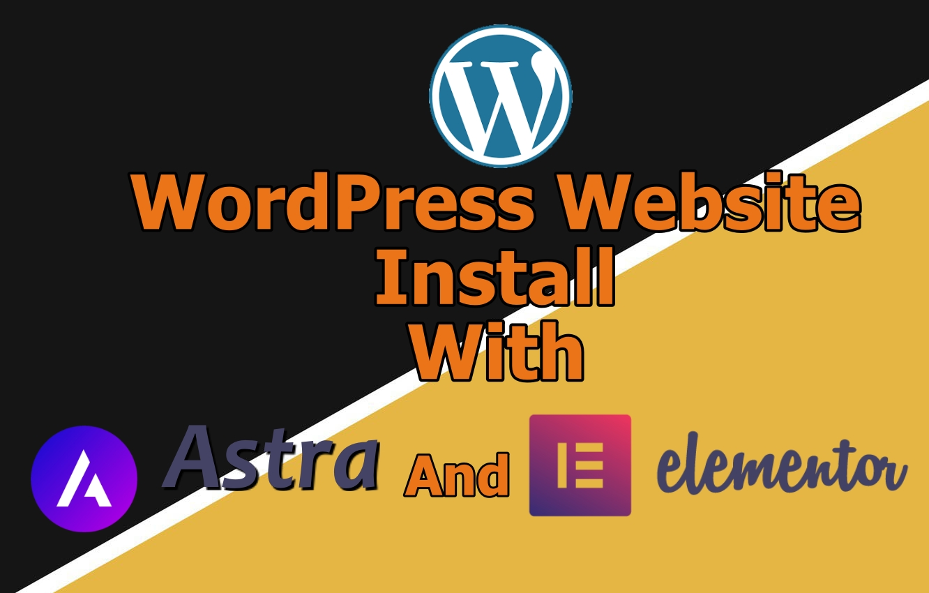 I will install a website with elementor pro and astra theme,  oceanWP