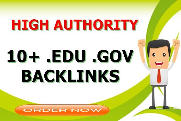 10+ .Edu .Gov High Authority SEO Backlinks for website rank Boost