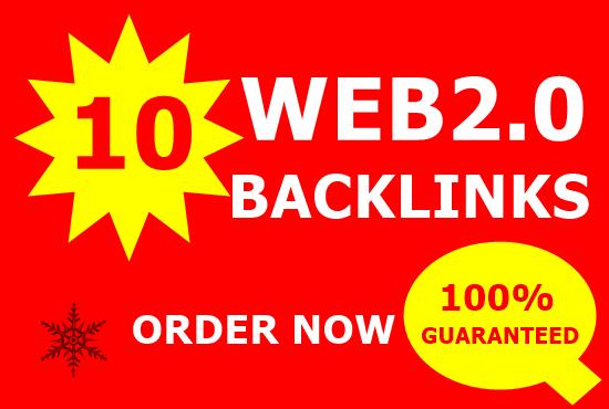 Build 10 High Quality Web2.0 Blogs high DA 30+Top service