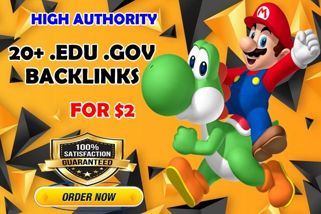 20+. Edu. Gov High Authority SEO Backlinks for website rank Boost
