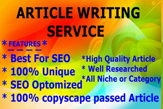 500+ Words Article Writing-Content Writing-Blog Writing -Top service