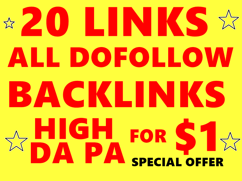 20+ High DA PA PR10 Dofollow Backlinks with DA100 sites Plus Edu Gov Links