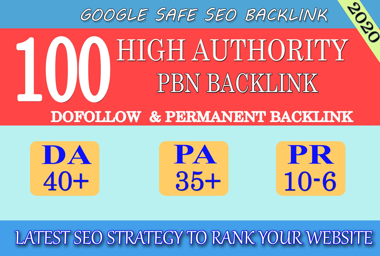 I will provide DA 40+ PA 35+ PR 6+ Web2 High Quality 100 PBN Backlink & 100 Dofollow & Unique Site