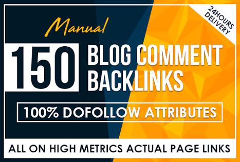 I will provide 150 unique domains blog comment best quality dofollow