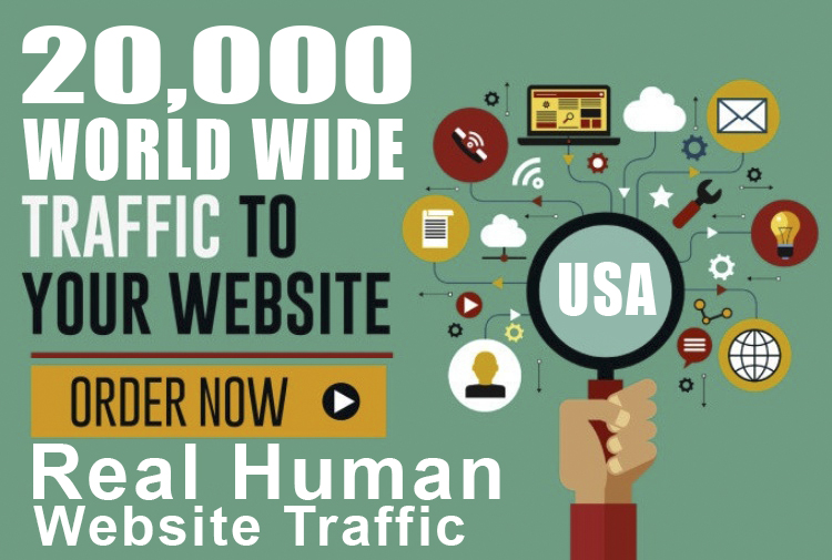 I well Drive 20k Real Human Website Traffic