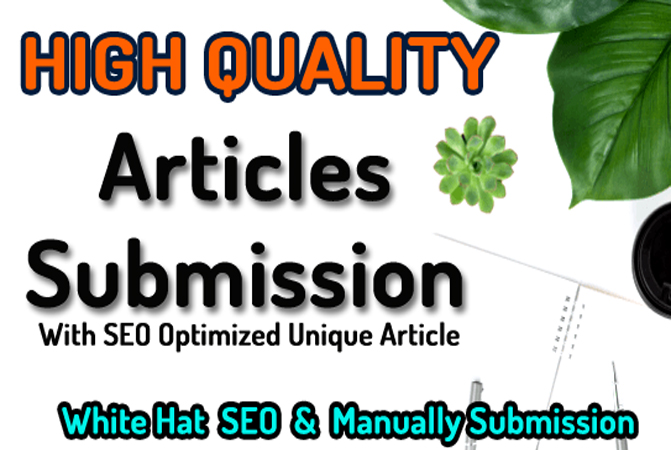 10 Article Submission Backlinks with SEO Optimized Article Writing
