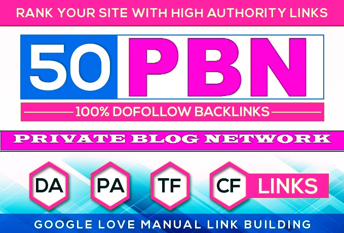 Assemble 50 HomePage PBN Backlinks All Dofollow High Quality Backlinks