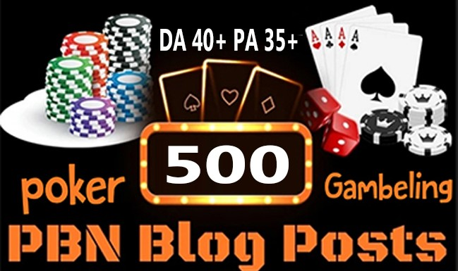 Get Powerful 500 CASINO backlink and PBN with High DA/PA on your Homepage with uncommon