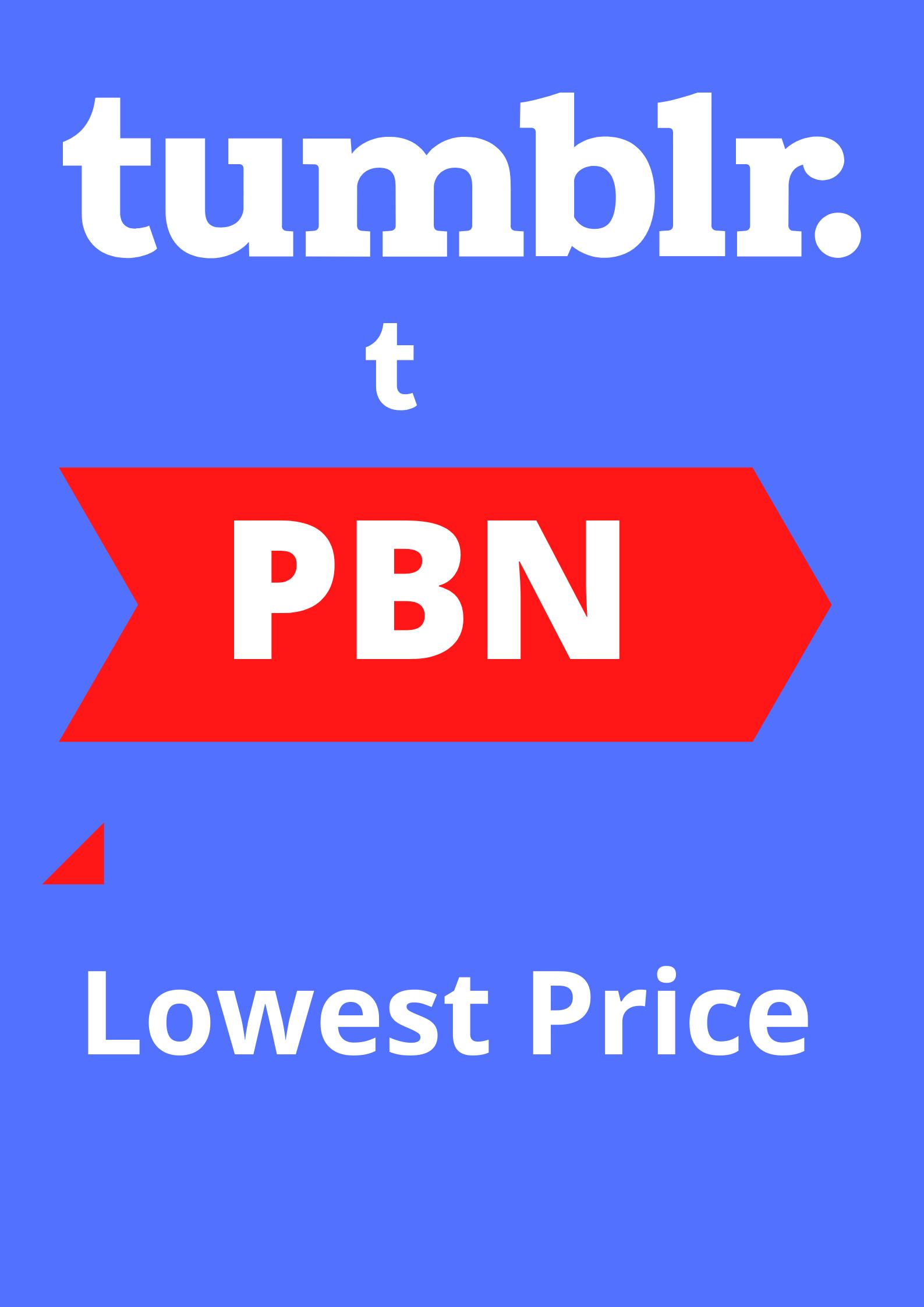 10 Tumblr DoFollow PBN Backlinks 100 Manual not Redirect