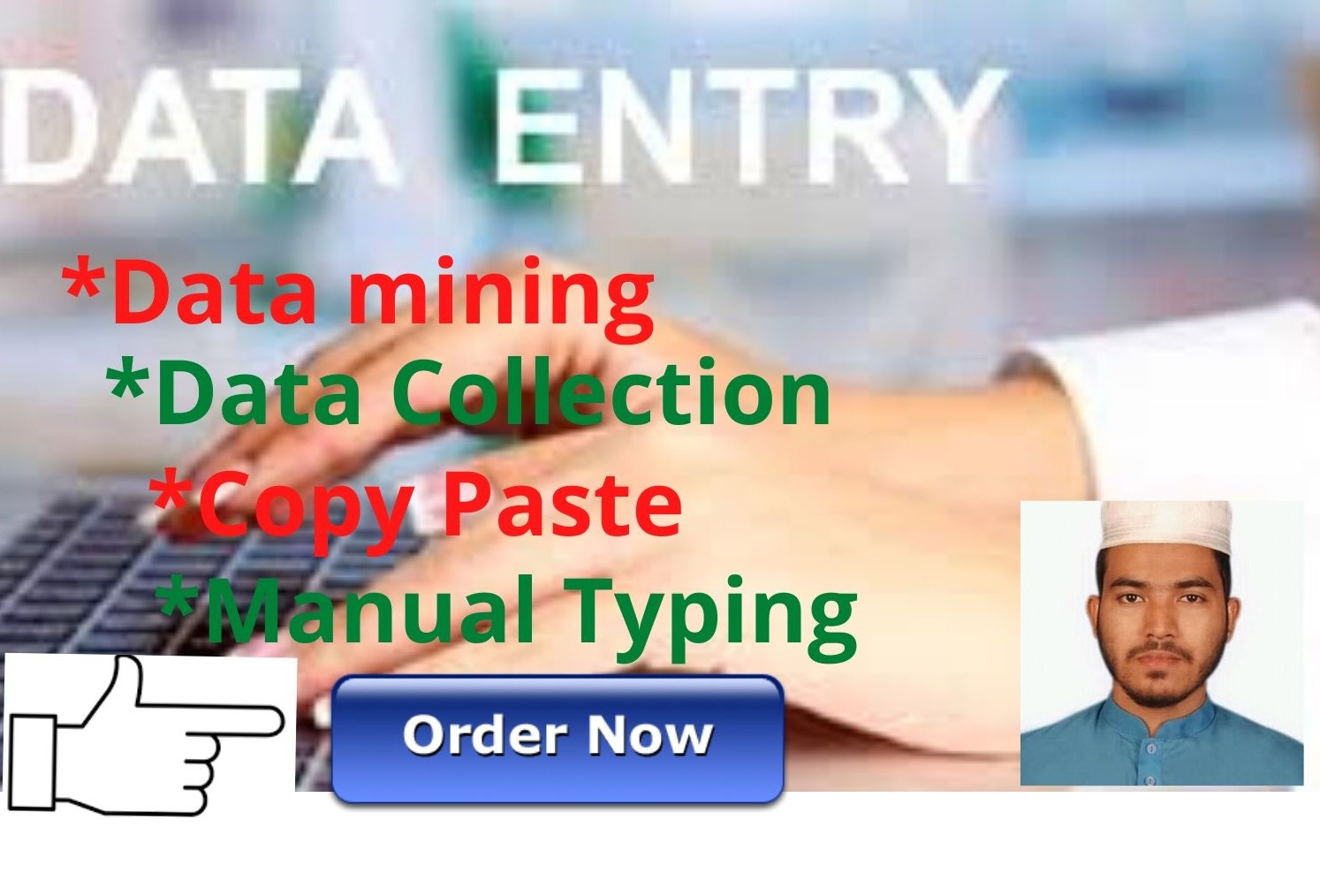 i will any data entry,  data mining,  copy paste, image to excel,  online data entry.