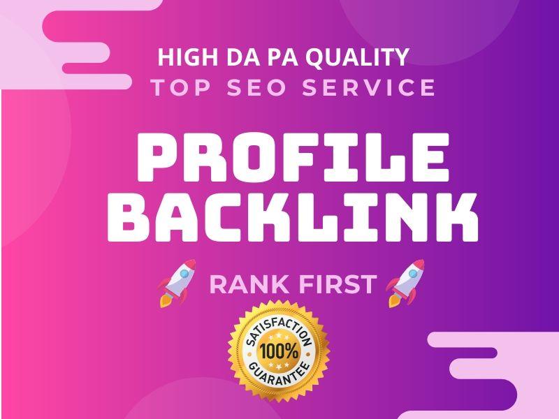 I will provide 25 Dofollow Profile Creation Backlinks with high DA-PA website