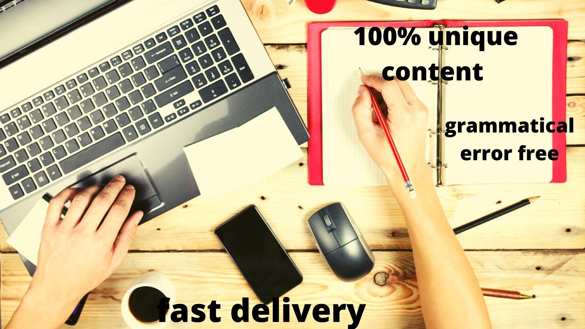 Get 500 words of unique SEO/Web Content service