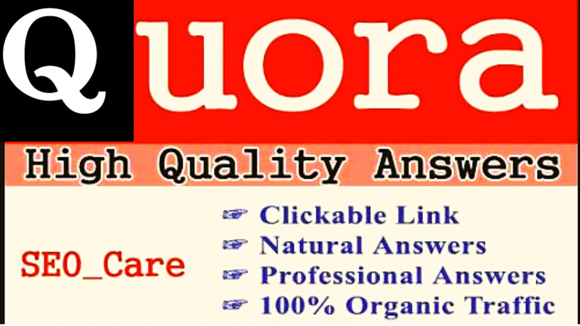 5 Quora answers with link attached for targeted traffic