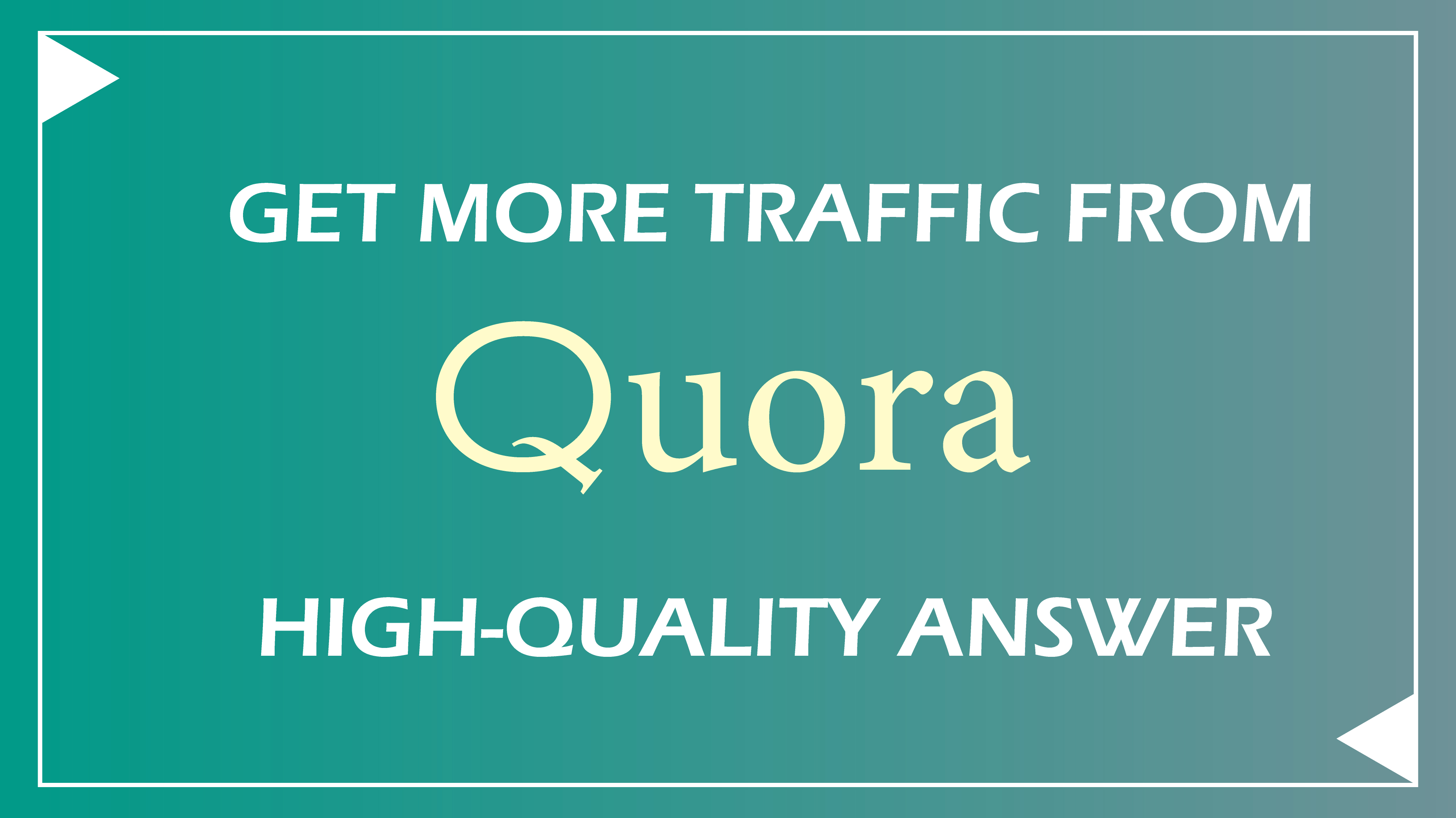 Get 40 organic, unique quora answer to boost your domain