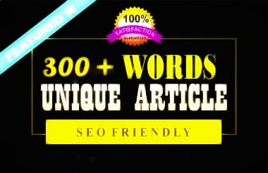 I will be writing and blogging unique articles of 300 words