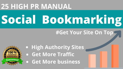 I Will Provide you High Quality 25 Social Bookmarking.
