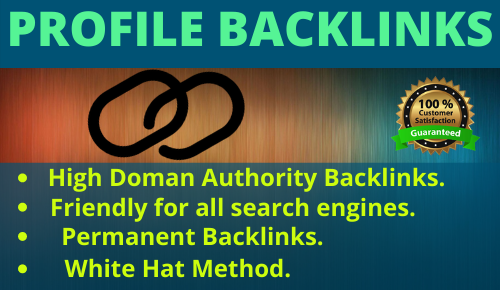 I will do 20 High Authority SEO Profile Backlinks.