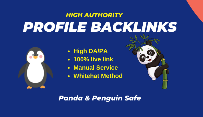 I will do 100 high DA Profile Creation Backlinks manually