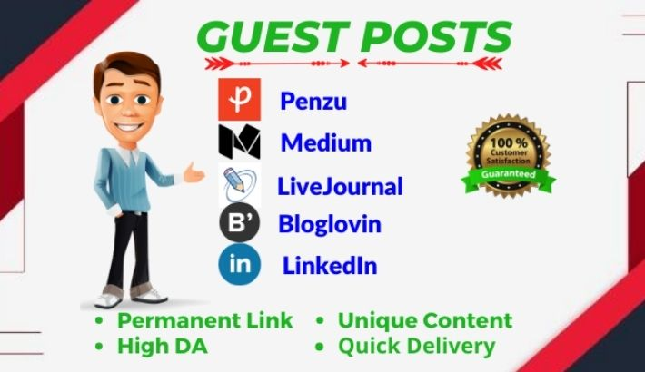 3 High DA Guest post on da 91 to 98 websites
