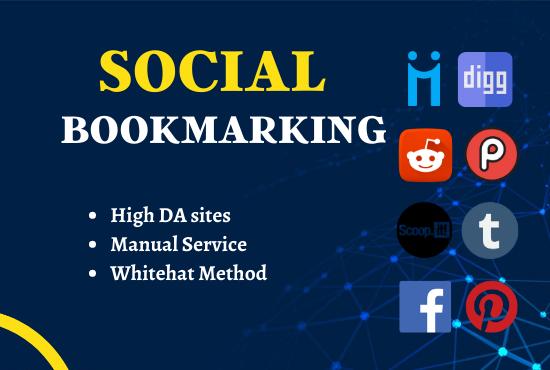 I will Create 25 High PR Social Bookmarking SEO Backlinks
